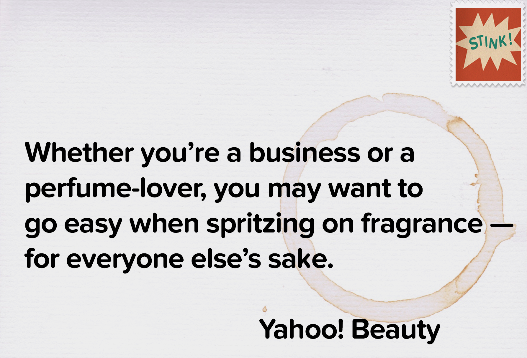 "Yahoo Beauty nails in on ""Fragrance."""